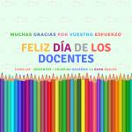Muchas gracias en el Día Mundial de los Docentes